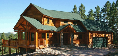 old plank log home